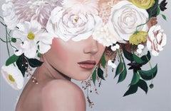Dreamer - Floral Figurative Artwork