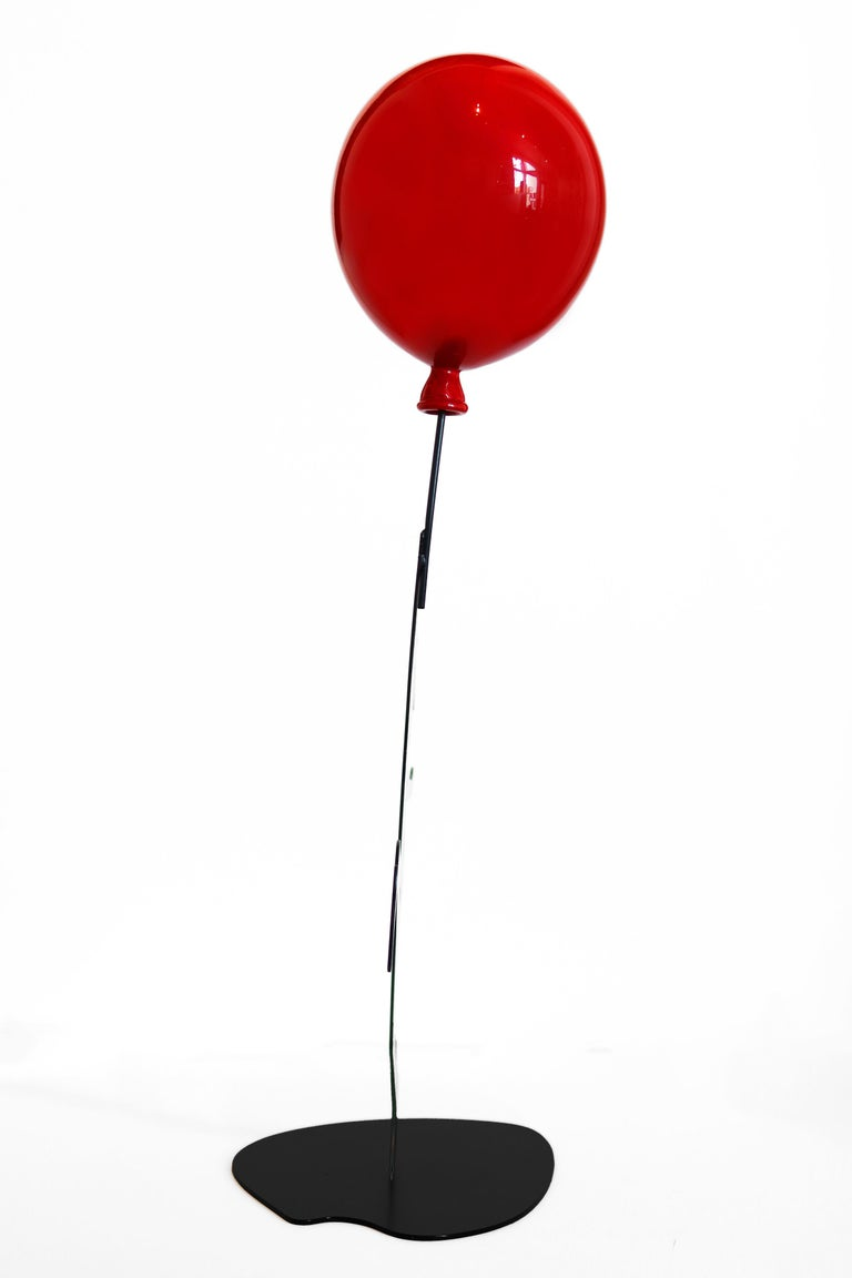 Hope (17/35) - Figurative Sculpture with Red Balloon 3