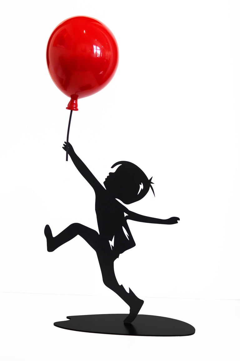 Hope (17/35) - Figurative Sculpture with Red Balloon 6
