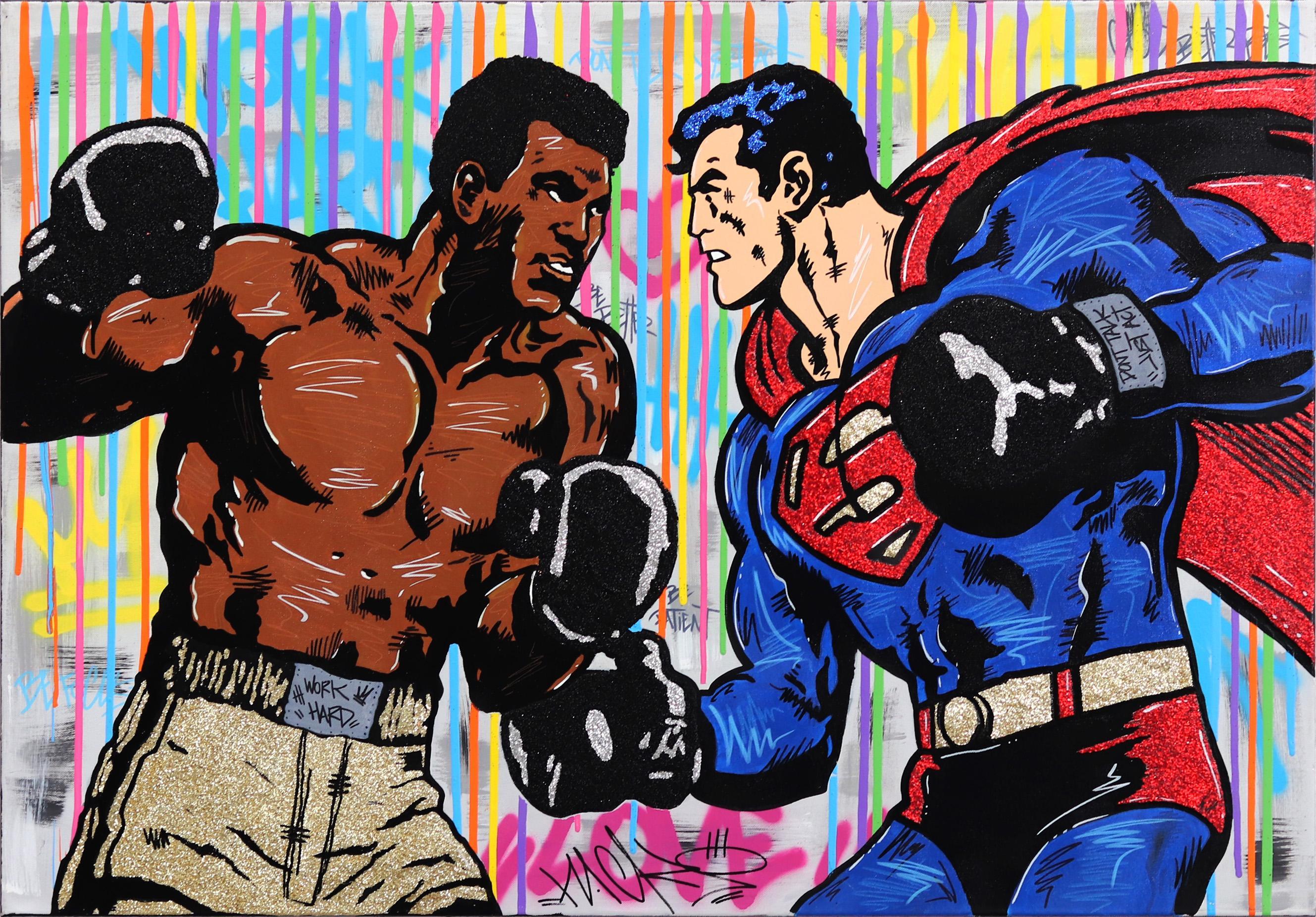 Clash of Heroes - Original Pop Art Painting