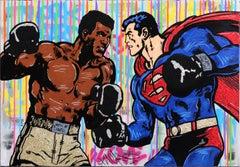 Clash of Heroes - Large Original Pop Art Painting