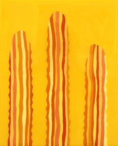 Lilellow - Yellow Cactus Contemporary Minimalist Painting