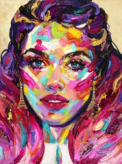 Emily - Colorful Original Figurative Painting on Canvas