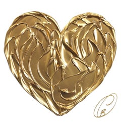 Gold Heart on White No. 1