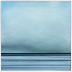 Untitled No. 449 - Large Framed Contemporary Minimalist Blue Artwork