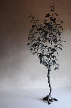 Grape tree, outdoor wrought iron sculpture, unique contemporary piece by Zanoni