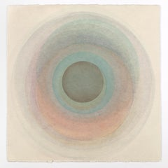 Coaxist FE919 - Soft pastel color abstract geometric circles watercolor on paper