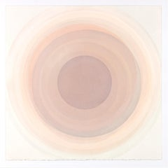 Coaxist MA2119 - Soft pastel color abstract geometric circle watercolor on paper