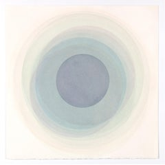 Coaxist MA2219 - Soft pastel color abstract geometric circle watercolor on paper