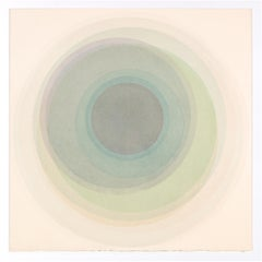 Coaxist OC218 - Soft pastel color abstract geometric circles watercolor on paper
