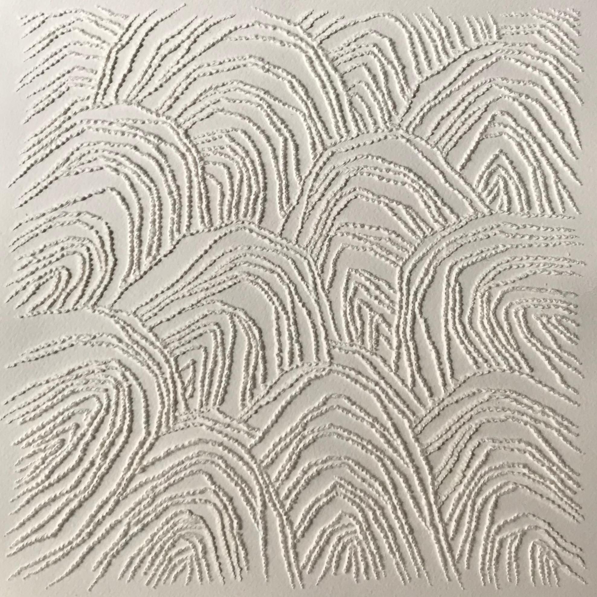 Beige 1 - intricate 3D abstract landscape seascape drawing on paper