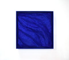 Blue Klein- blue 3D organic feel contemporary abstract mural sculpture in foam