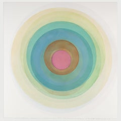 Coaxist F1120 - Soft pastel color abstract geometric circle watercolor on paper