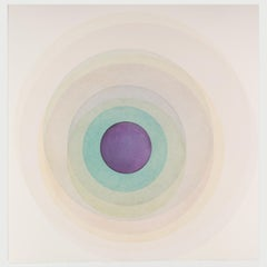 Coaxist F1220 - Soft pastel color abstract geometric circle watercolor on paper