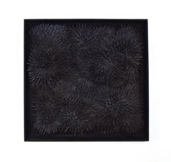 Black Burst - 3D organic feel contemporary abstract mural sculpture in foam