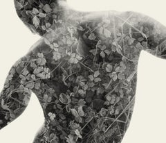 Frosted Back - black and white portrait and nature multi exposure photograph