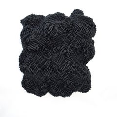 Black Field- 3D organic feel contemporary abstract textural mural sculpture
