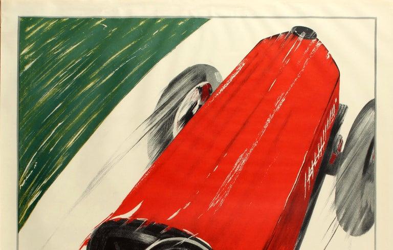 Large Coppa Della Perugina Sports Car Racing Poster Reissue 1990s Art Deco Style - Print by Federico Seneca