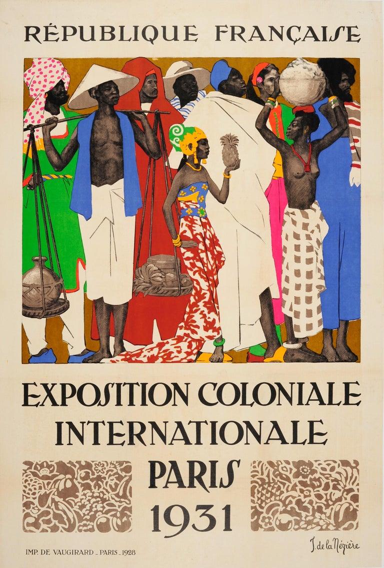 Joseph de la Neziere Print - Original Vintage Exhibition Poster 1931 International Colonial Exposition Paris