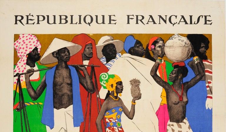 Original Vintage Exhibition Poster 1931 International Colonial Exposition Paris - Print by Joseph de la Neziere