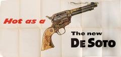Original Vintage Poster Hot As A Smoking Gun The New DeSoto Chrysler Car (Large)