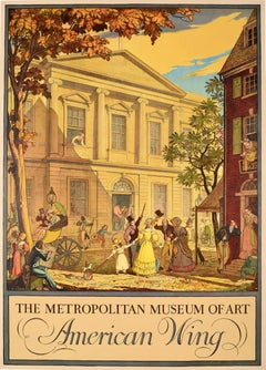 Original Vintage Poster The Metropolitan Museum Of Art American Wing New Gallery
