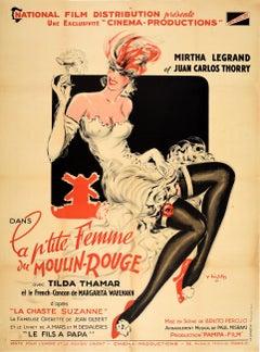 Original Vintage Music Movie Poster La P'tite Femme Du Moulin Rouge Chaste Susan