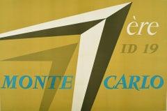 Original Vintage Car Racing Sport Poster Citroen ID19 Rallye Monte Carlo Rally 1