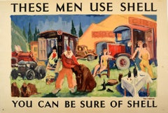 Original Vintage Poster The Circus These Men Use Shell You Can Be Sure Of Shell