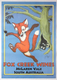 Original Vintage Poster Fox Creek Wines McLaren Vale South Australia Drink Ad