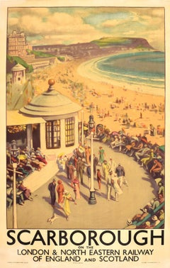 Original Vintage Travel Poster Scarborough London & North Eastern Railway LNER