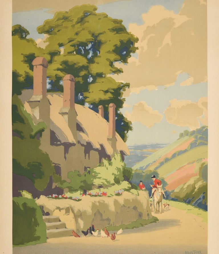 Original Vintage Poster Somerset GWR Great Western Railway Travel West Country - Print by Herbert Alker Tripp