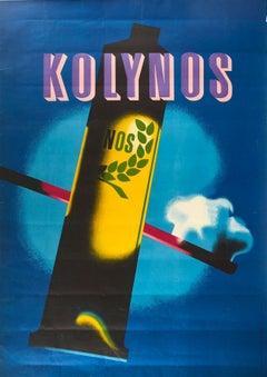 Original Vintage Poster Kolynos Toothpaste Dental Health Care Modernist Design