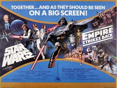 Original Vintage Poster Star Wars & The Empire Strikes Back Sci-Fi Film Classics