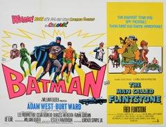 Original Vintage Film Poster Batman The Man Called Flintstone Cartoon Movie Quad