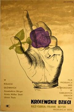 Original Vintage Film Poster Invincible Love Krolewskie Dzieci Romance War Movie
