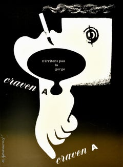Original Vintage Poster Advert For Craven A Cigarettes Graphic Design Surrealism