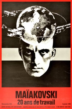 Original Vintage Poster Mayakovsky Exhibition Paris Constructivist Photo Design