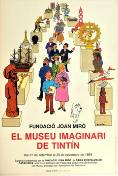 Original Vintage Poster Imaginary Museum Of Tintin Exhibition Fundacio Joan Miro