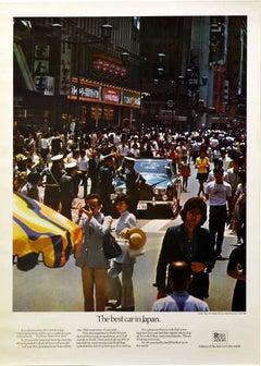 Original Vintage Poster Rolls Royce Silver Shadow Ginza Tokyo Best Car In Japan