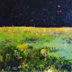 Tuscany Meadow with fireflies Original Oil on Canvas Signed Certificates