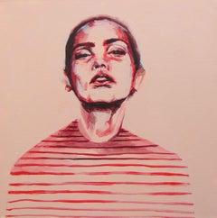 Stripes original acrylic paint on canvas signed great reviews vibrant portrait
