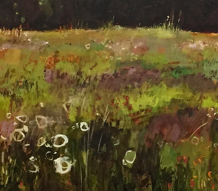 Tuscany Meadow with fireflies Original Oil on Canvas Signed Certificates   For Sale 4