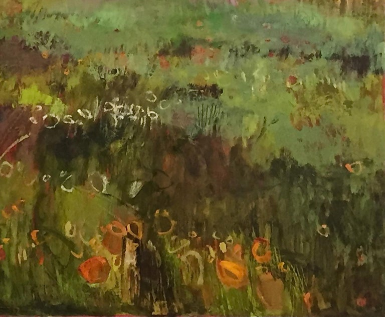 Tuscany Meadow with fireflies Original Oil on Canvas Signed Certificates   For Sale 3