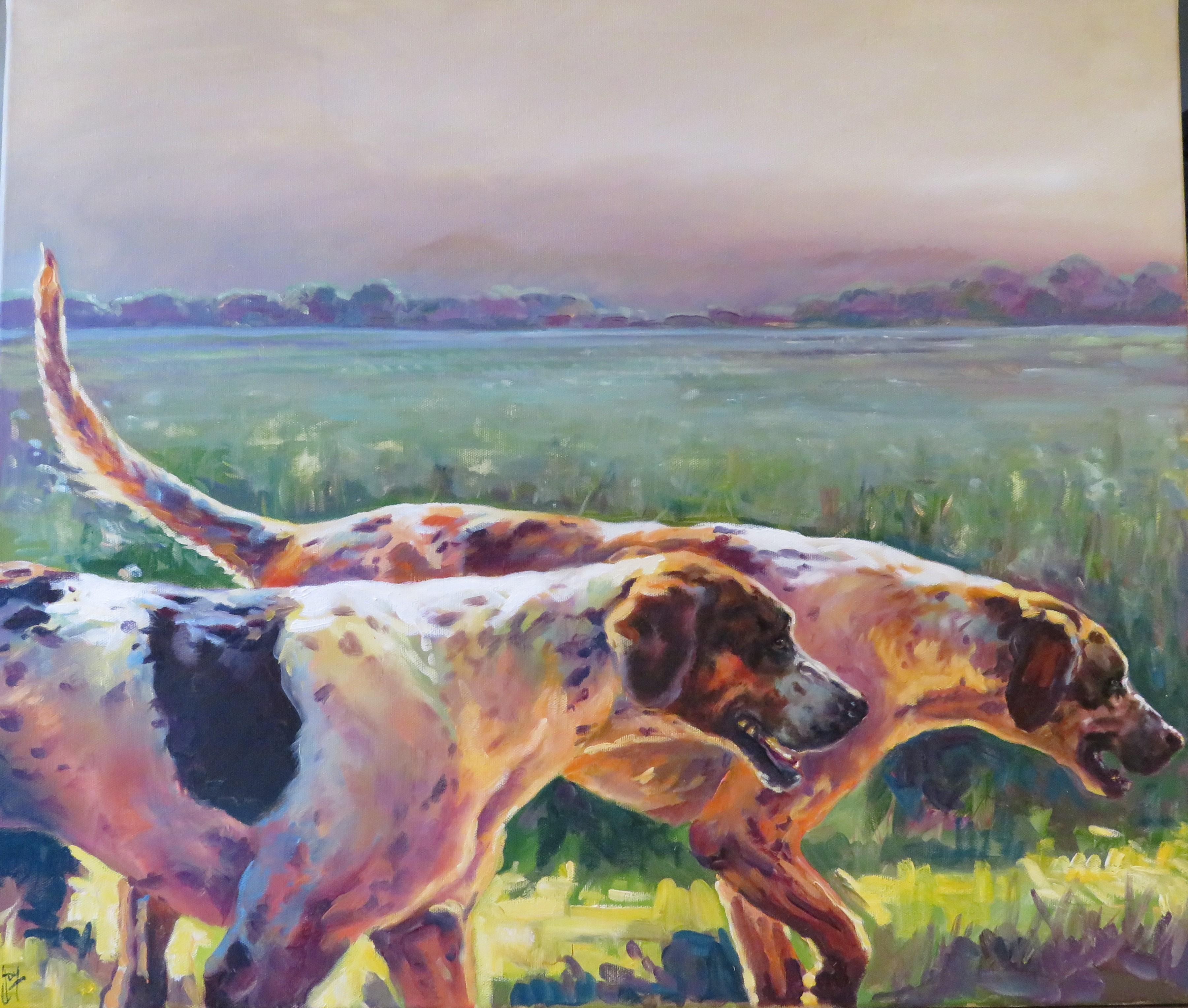 Indian Summer Original Oil paint on canvas colours vibrant lilac orange green