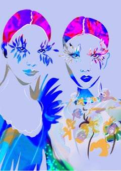 Feather Lashes limited edition print pre-release expo with Soho House and LFW19