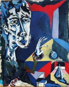 O mio babbino caro Original mixed media oil  cotton canvas colour abstract