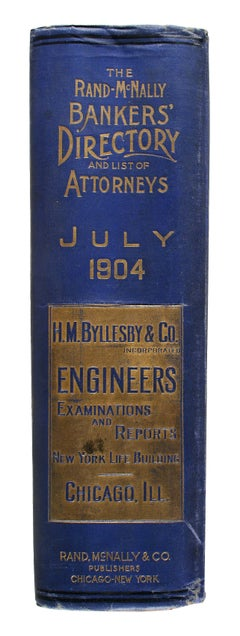 """The Bankers' Directory and List of Attorneys """"Blue Book.""""  July, 1904, Edition."""