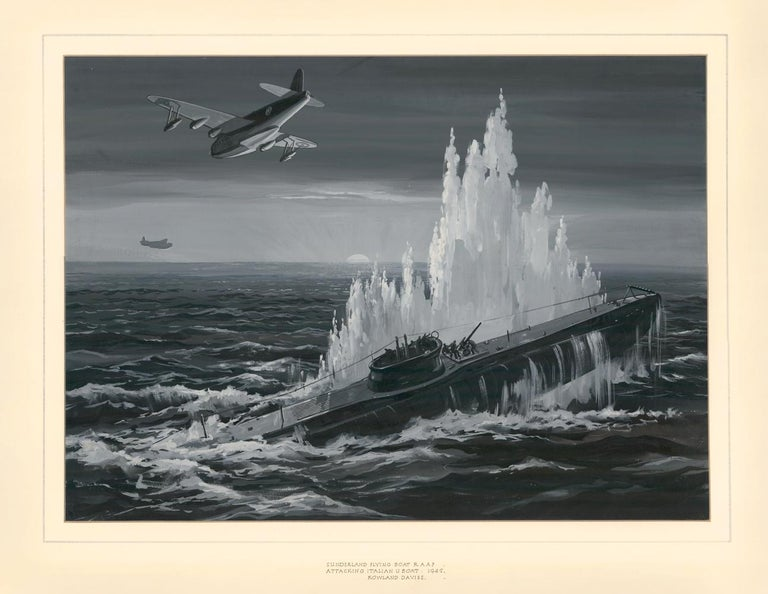 Sunderland Flying Boat R.A.A.F. Attacking Italian U Boat For Sale 1