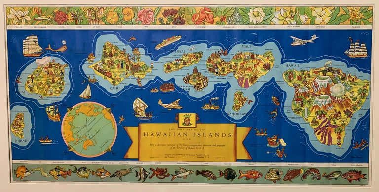 The Dole Map of the Hawaiian Islands - Print by Parker Edwards